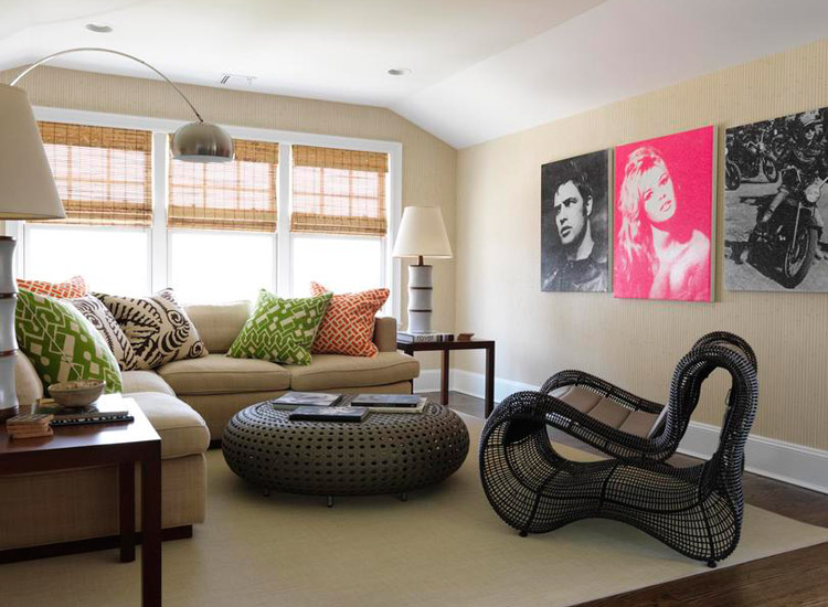 The hamptons showhouse gallery design house international - Slanted ceiling paint ideas ...